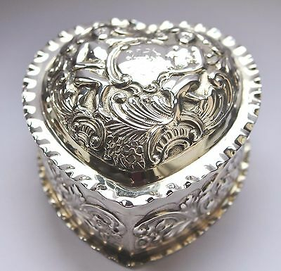 Substantial Solid Silver And Gilt Box, London 1894