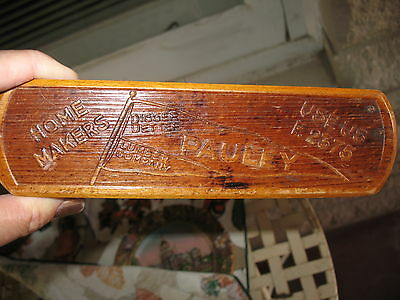 PAULEY LUMBER CO LINCOLN NEBRASKA vintage WOOD advertising  brush GERMNAY NICE