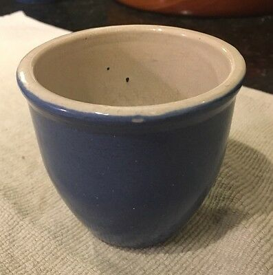 Small Uhl Pottery (Indiana) Crock or Planter - Blue