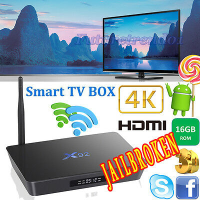 X92 S912 3G+16G Octa-core Android 6.0 Smart TV Box Fully Loaded Dual WIFI + BT