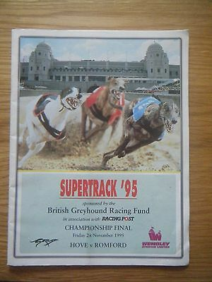 1995 Wembley ''inter Track Championship Final'' Greyhound Racecard