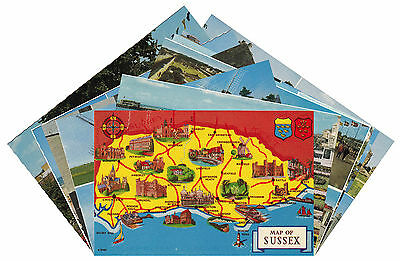 12off Postcards of Sussex (P080)