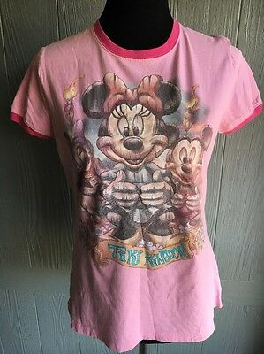 Pink DISNEY STORE STUDIO COLLECTION Short Sleeve Tiki Kingdom Shirt Top S