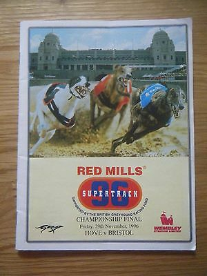 1996 Wembley ''inter Track Final & Select Stakes'' Greyhound Racecard
