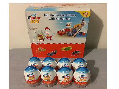 8x Kinder Joy Chocolate Eggs - Boys - surprise gifts inside full eggs kids