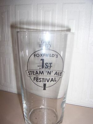 Commemorative Glass. Foxfield Railway