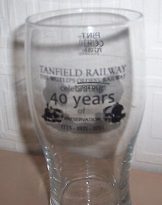 Commemorative Glasses. tanfield railway 40 years