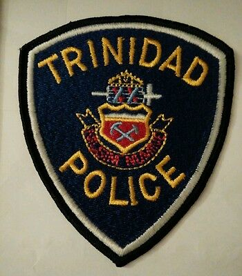 Vintage TRINIDAD -  COLORADO (USA) POLICE PATCH fabric embroidered sew on