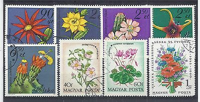 Colourful group of 8 stamps showing different FLOWERS