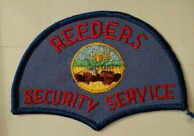 Vintage REEDERS SECURITY SERVICE (USA) PATCH fabric embroidered sew on