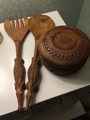 Job lot Of Wooden Carved Items