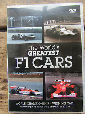 Unused 'WORLDS GREATEST F1 CARS' DVD - Great Xmas Gift