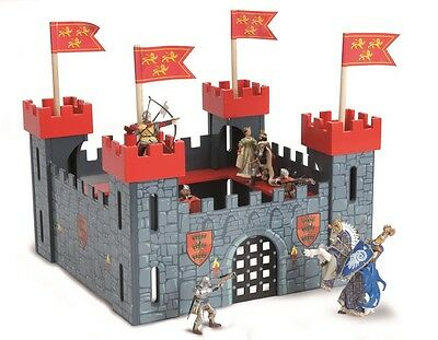 Le Toy Van TV 256 - Ritterburg Holz Burg rot - My First Castle Red