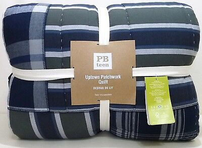 POTTERY BARN PB TEEN Uptown Patchwork TWIN/TWIN XL Quilt, NEW