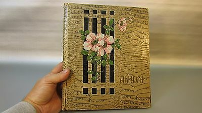 Antique Souvenir Post Card Album Coffee Table Book Empty 100 PAGES - used