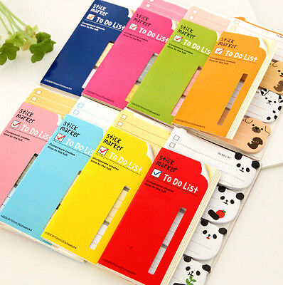 Cute book notes Cartoon Animals Sticker Post-It Bookmark Index Tab Sticky Note