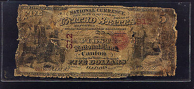 Original $5 First National Bank of CANTON IL 1865 CONTEMPORARY COUNTERFEIT