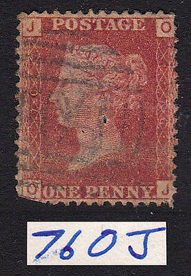 SG43/44 Plate 76 1d Used Stamp (555)
