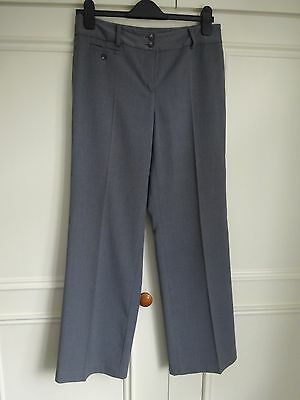 Ann Taylor Smart Mid Grey Lined Straight Leg Trousers - Us Size 4 - Uk Small