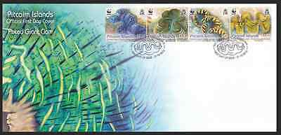 PITCAIRN ISLAND - 2012 - FDC: Fluted Giant Clam. Strip, 4v
