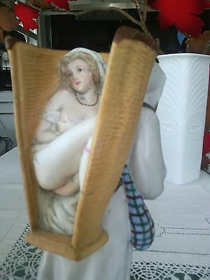 EROTIC Antik Biedermeier V&B Porzellanfigur um 1870 porcelain bisque 19th eme