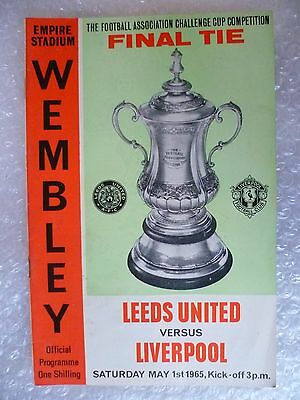 1965 FA CUP FINAL Programme LEEDS UNITED v LIVERPOOL, 1 May, (Org*)