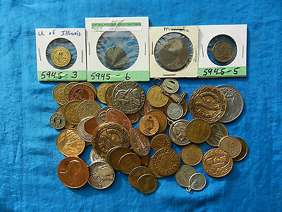 Almost One Pound Lot of Misc. Tokens *Tokens*          *Novelty Items*
