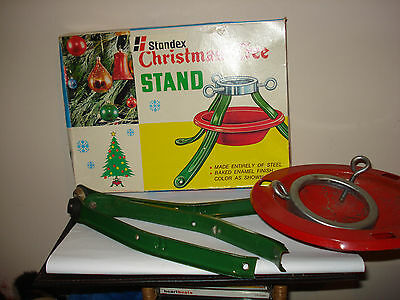 vintage standex christmas tree stand boxed
