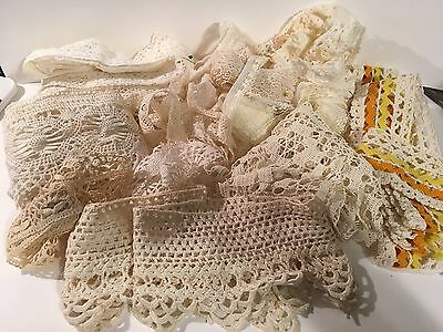 Vintage And Antique lace Lot Of 12