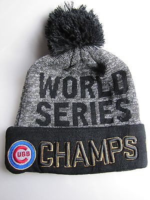 2016 Chicago Cubs World Series Champs New Era Knit Winter Beanie Hat-Free Shpg