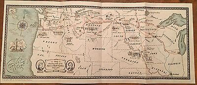 Rare Lewis and Clark Pictorial map Great Northern Railway 1927 Cartograph