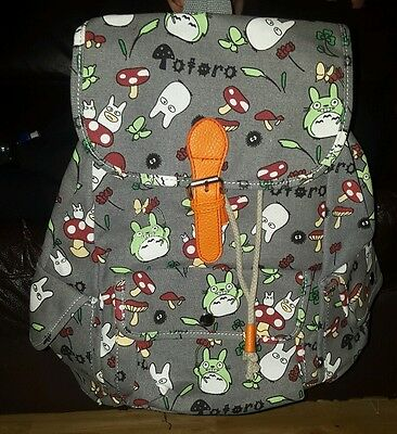 NEW: Totoro Bag Backpack Bundle GIFT SET 7 ITEMS. UK SELLER. STUDIO GHIBLI