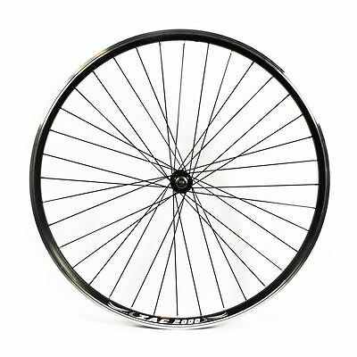 700c Alloy Front Wheel Narrow Section Quick Release Black Double Wall
