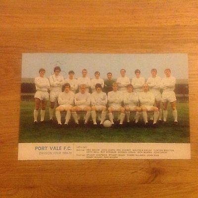 Signed genuine autograph team photograph Port Vale  1969–70