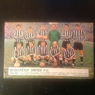 Signed genuine autograph team photograph  Newcastle United  FC  1960s