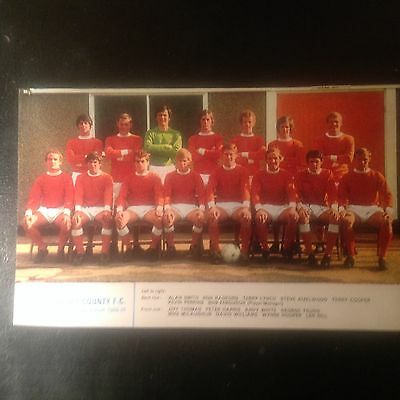 Signed genuine autograph team.  Photograph  Newport County FC 1969–70