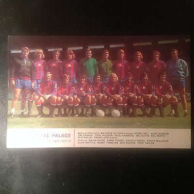 Signed genuine autograph team  photograph crystal palace 1973