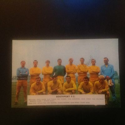 Signed genuine autograph team photograph  southport FC 1960s