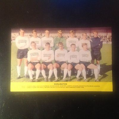 Signed genuine autograph team photograph   Darlington FC  1960s