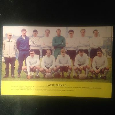 Signed genuine autograph team photograph Luton town fc