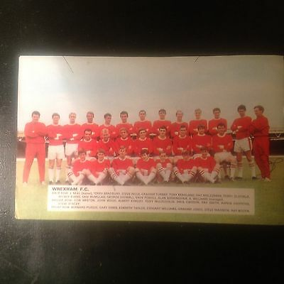 Signed genuine autograph team  photograph Wrexham FC 1960's
