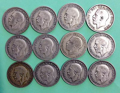 12 GEORGE V ONE SHILLING CONS 1912 To 1936