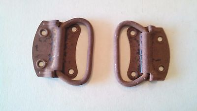 Two Antique Vintage Trunk Handles Steamer Or Flat Top Trunks