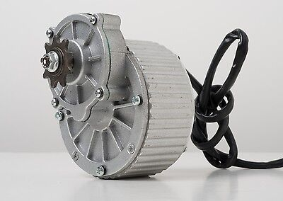 """250 W 24 V electric brush motor f bicycle ebike gear reduction #410 1/2"""" gear"""