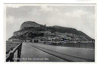Commercial Mole - Gibraltar Real Photo Postcard c1920s
