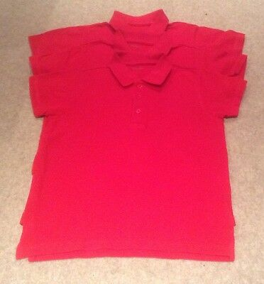 Unisex School Polo Shirts x 3 (John Lewis 7 years)