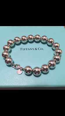 Tiffany & co. Sterling Silver 10mm bead ball bracelet!!!