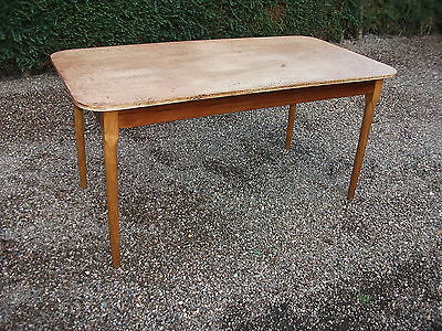 RETRO TEAK 5Ft REFRECTORY DINING TABLE SEATS 6