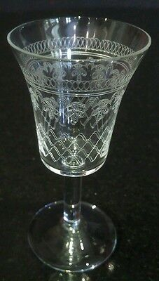 Fine, Etched Pall Mall Liqueur Glasses