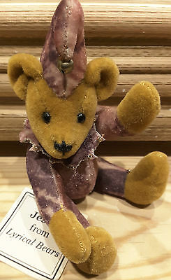 'Jester' Comical Miniature Bear by Lyrical Bears HandMade Detailed Fully Jointed